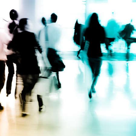 Stadt Geschäftsleute abstrakten Hintergrund verwischen Bewegung Standard-Bild - 11728228