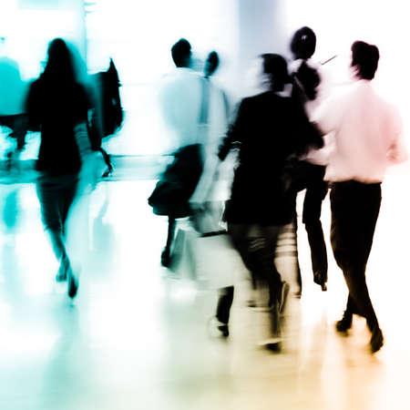 Stadt Geschäftsleute abstrakten Hintergrund verwischen Bewegung Standard-Bild - 11728222