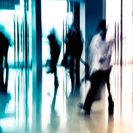 unrecognizable people: city business people abstract background blur motion