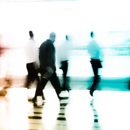 city business people abstract background blur motion photo