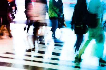 city business people abstract background blur motion Stock Photo - 11730095