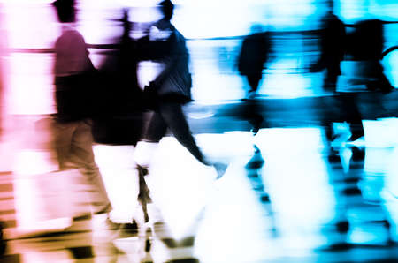 city business people abstract background blur motion Stock Photo - 11730076