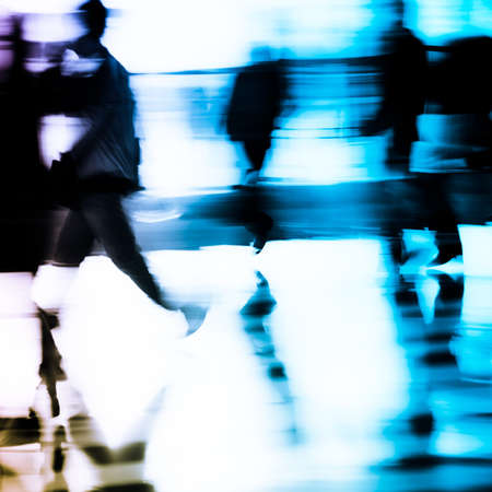 city business people abstract background blur motion Stock Photo - 11728238