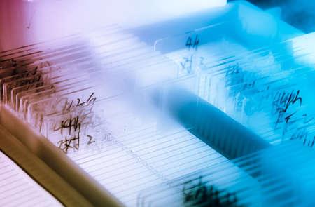 Biomedizinische Wissenschaft Ausrüstung Hintergrund Glasobjektträger Standard-Bild - 11728268