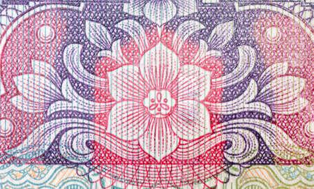 rmb: chinese money rmb background flower macro texture