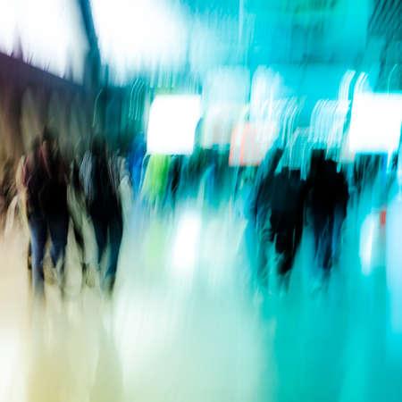 Stadt Geschäftsleute drängen abstrakten Hintergrund Standard-Bild - 11911353
