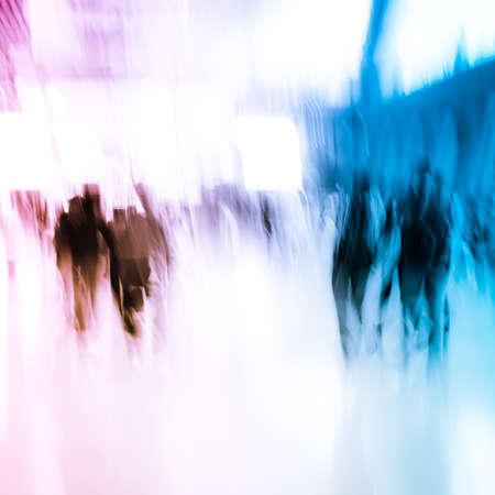Stadt-und Business Menschen drängen abstrakten Hintergrund Standard-Bild - 11911347