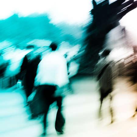 Person Menschenmenge auf stree Unschärfe Bewegung Standard-Bild - 11911406