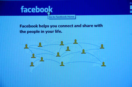 initial public offerings: Guangdong, China - Feb 11: Facebook website Initial public offerings (IPO) for financing 5 billion dollars on Feb 02, 2012 in Guangdong, China.