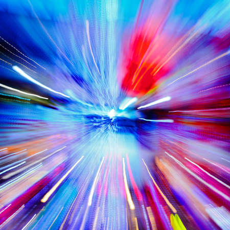 Multiple lights blur zoom abstract background Stock Photo - 12648099
