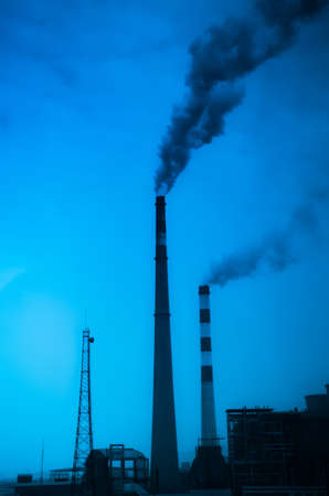 industrial pollution smoke from chimney photo