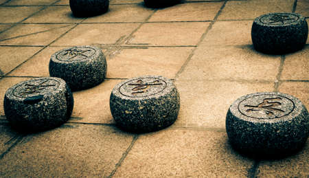 Chinese stone chess abstract background