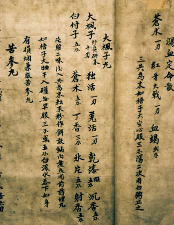 chinese medical: chinese old mystery medical book script
