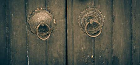antique Chinese vintage bronze door knocker photo