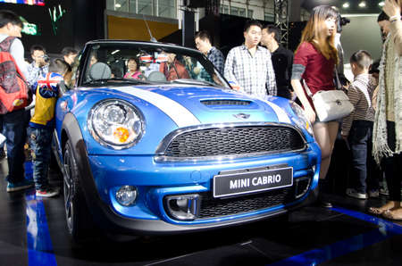 GUANGZHOU, CHINA - Nov 26: mini cabrio car on display at the 9th China international automobile exhibition. on November 26, 2011 in Guangzhou China. Stock Photo - 13226002