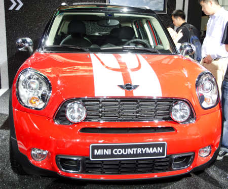 GUANGZHOU, CHINA - Nov 26: Mini Countryman car on display at the 9th China international automobile exhibition. on November 26, 2011 in Guangzhou China.