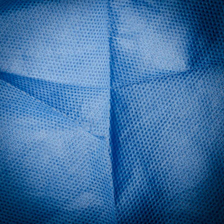 blue medical nonwoven fabric cloth ditail texture Stock Photo - 13228080
