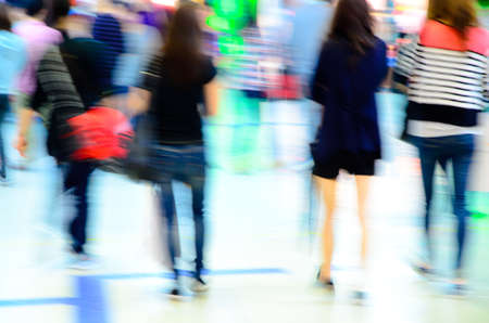 city shopping people crowd at marketplace abstract background Stock Photo - 13462972