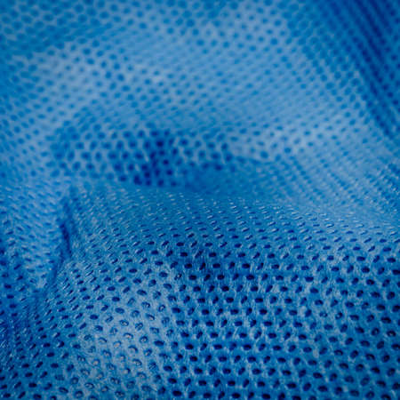 blue nonwoven fabric cloth texture background Stock Photo