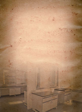 modern science laboratory old grunge paper texture background photo