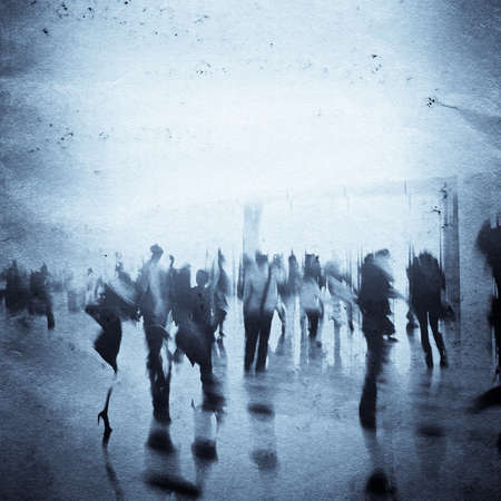 city business people abstract grunge paper texture background Stock Photo