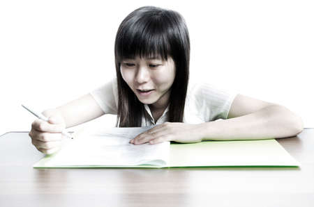 asian business women: Asian business women endorse on paper contract