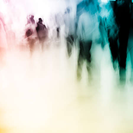 blur: city shopping people crowd at marketplace abstract background
