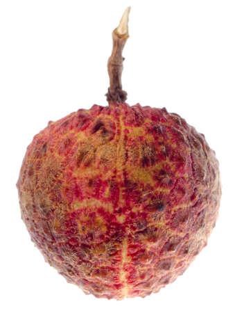 lichi: fresh litchi fruit isolated on white