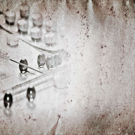 healing process: medical drug grunge paper texture background Stock Photo