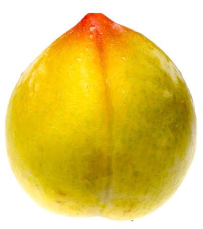 fruit plum peach isolated on white photo