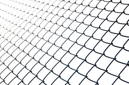 enclose: iron wire fence isolated abstract Stock Photo