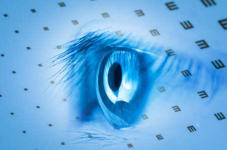 medical eye chart background