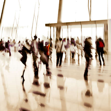 city business people abstract background blur motion Stock Photo - 18282567
