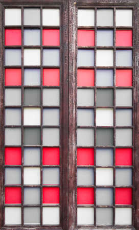 Chinese ancient wooden door photo
