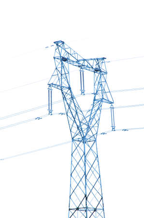 high voltage post energy transmission distribution tower Stock Photo - 19443756