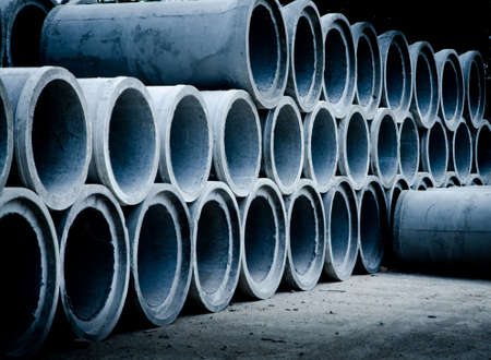 industrial concrete pipe for building construction photo
