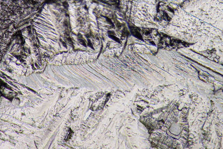 polarization: chemistry material crystal background, micrograph. Stock Photo