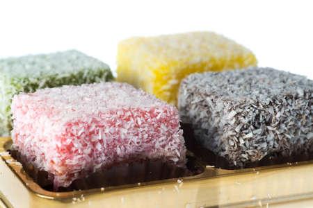 lamington: Sweet food, lamington coconut cake.