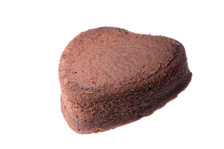 heart shaped chocolate cake photo