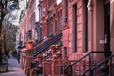 Brownstone Neighborhood in Harlem New York