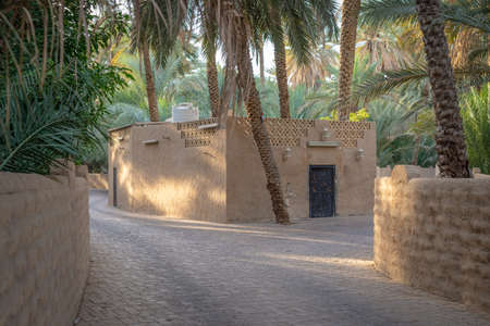 Small old mosque in Al Ain Oasis, United Arab Emirates Stock Photo