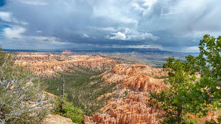Thunder storm and rain are coming at Bryce Canyon National Park, Utah, United States