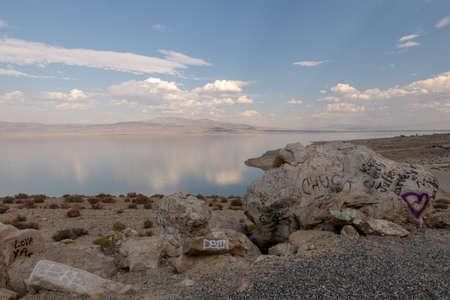 Graffitis at Walker Lake, Nevada, United States Imagens