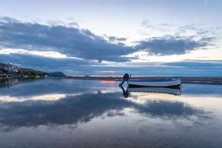 The Nyfer estuary at dusk, Trefdraeth (Newport), Wales, United Kingdom