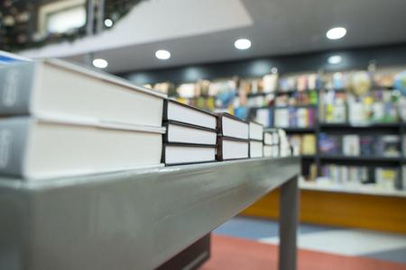 Books on shelfs in bookstore