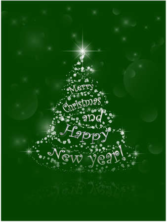 Cristmas: Abstract Christmas and New Year Tree card