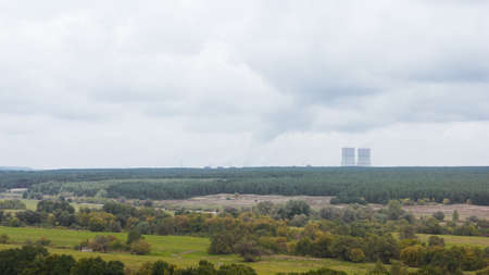 Nuclear power plant in the countryside