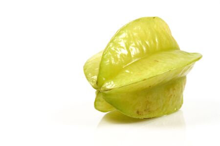 carambola: tasty tropical carambola isolated one a white backgound