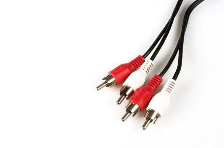rca: rosso it connettori RCA bianco su sfondo bianco