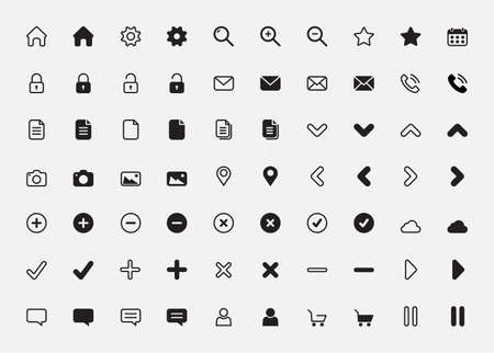 basic icon set vector illustration